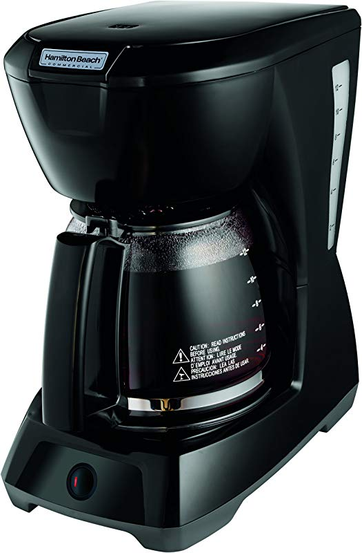 Hamilton Beach Commercial HDC1200 12 Cup Coffeemaker Black With Glass Carafe Hospitality Rated