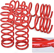 Jdm Red Suspension Lowering Coiled Springs Set For Civic/Integra