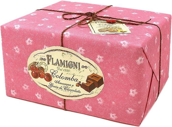 Colomba pasquale amarena e cioccolato da 1 kg, dolce artigianale- flamigni B08WLTY4K6