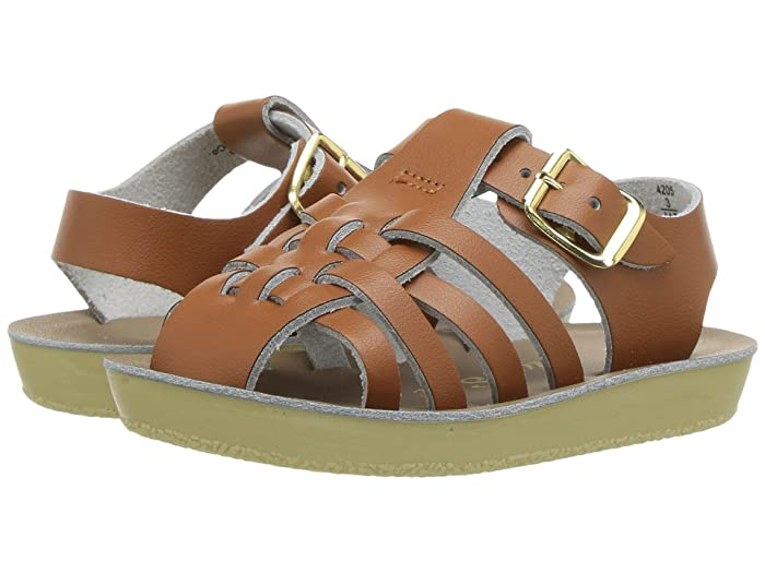 Salt Water Sandal by Hoy Shoes  Sun-San - Sailors (Infant/Toddler) (Tan) Kids Shoes