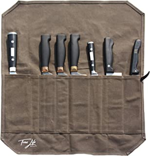 Free Life Makers Knife Storage Bag   Rolled Premium Knife Carrier Holder and Organizer