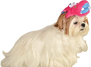 Rubie's Soft Plush Pink Cartoon Hippo Headpiece Hat For Pet Dog