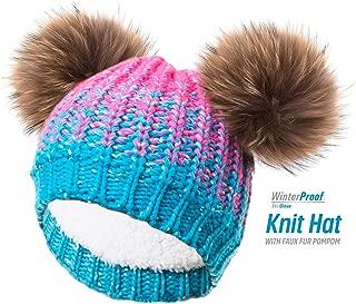 WinterProof Kid's Knit Hat w. Faux Fur Pompom