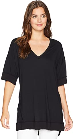 Michael Stars Ultra Jersey V-Neck Tunic