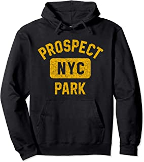 Brooklyn Prospect Park NYC Distressed Amber Print Pullover Hoodie