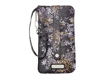 Baggallini Phone Wristlet (Frosted Black) Handbags