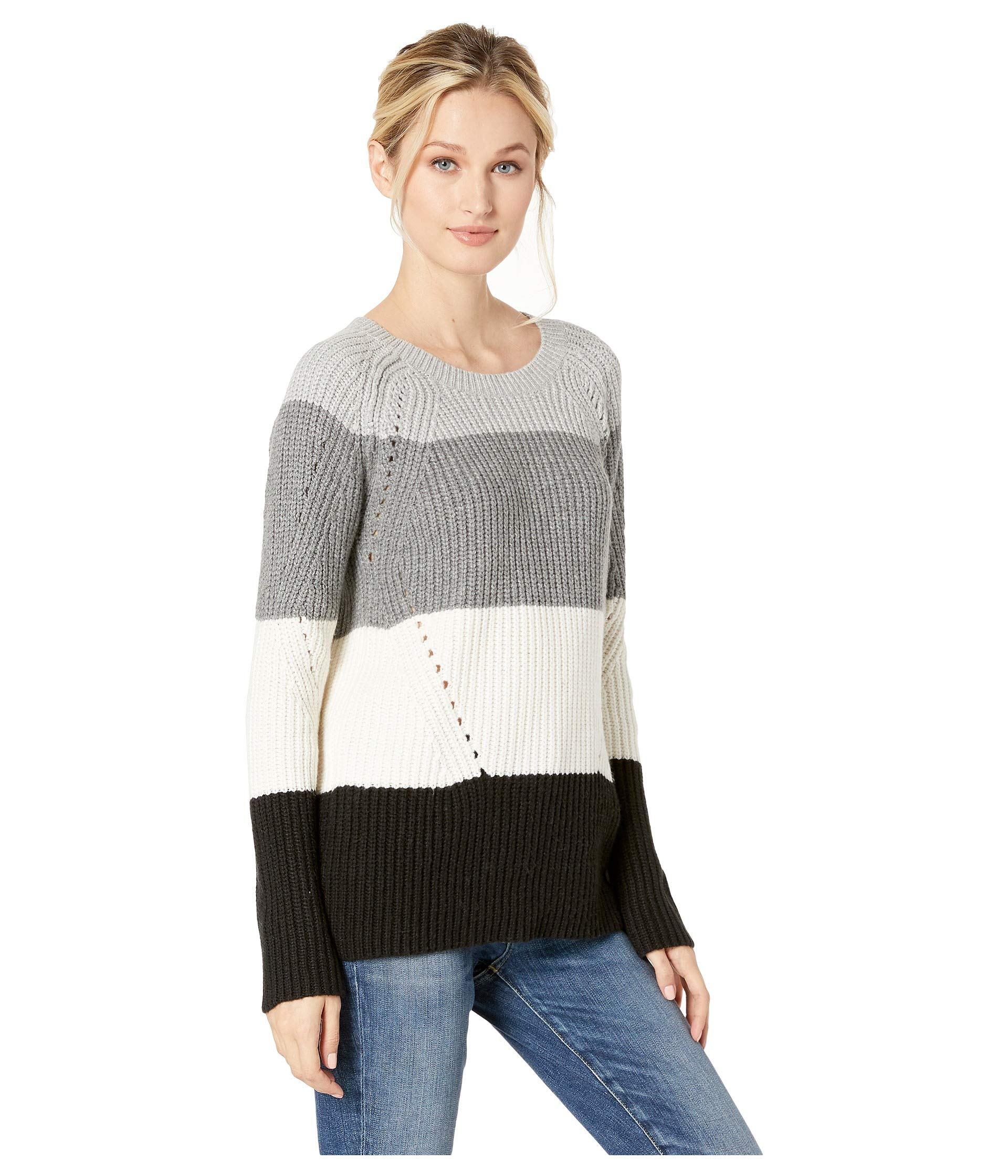 Brand Crew Lucky Natural Multi Neck Pointelle Sweater 4p7q0w7g