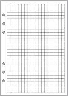 A5 Size Graph Paper Refill, Sized and Punched 6-Ring A5 Notebooks by Filofax, LV (GM), Kikki K, TMI, and Others. Sheet Size 5.83