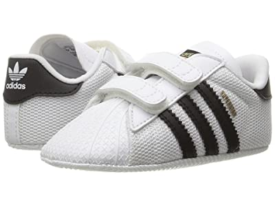 adidas Originals Kids Superstar Crib (Infant/Toddler) (White/Black) Boys Shoes