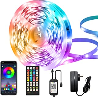 LED Strip Lights 65.6FT/20M, RGB Light Strips with Bluetooth App Control, LED Lights for Bedroom, Led Rope Lights Music Sy...