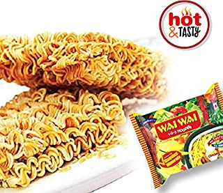 Wai Wai Instant Noodles, Chicken Flavored, 2.6-Ounce 75g Package Pre-Cooked Noodle, Spicy Noodle, Very Very Tasty Noodle, Lunch, Dinner, Chicken Noodle Soup, Spicy Chicken Noodle Soup 30 Pack - 2.25KG