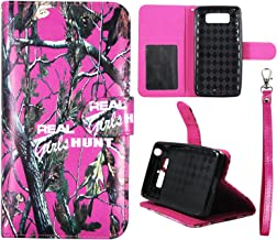 XT1030 Wallet Case Camo Pink RGHT2 For Motorola Droid Mini Faux Leather ID Pouch Credit Card Cash Holder Folding Cover Stand Case