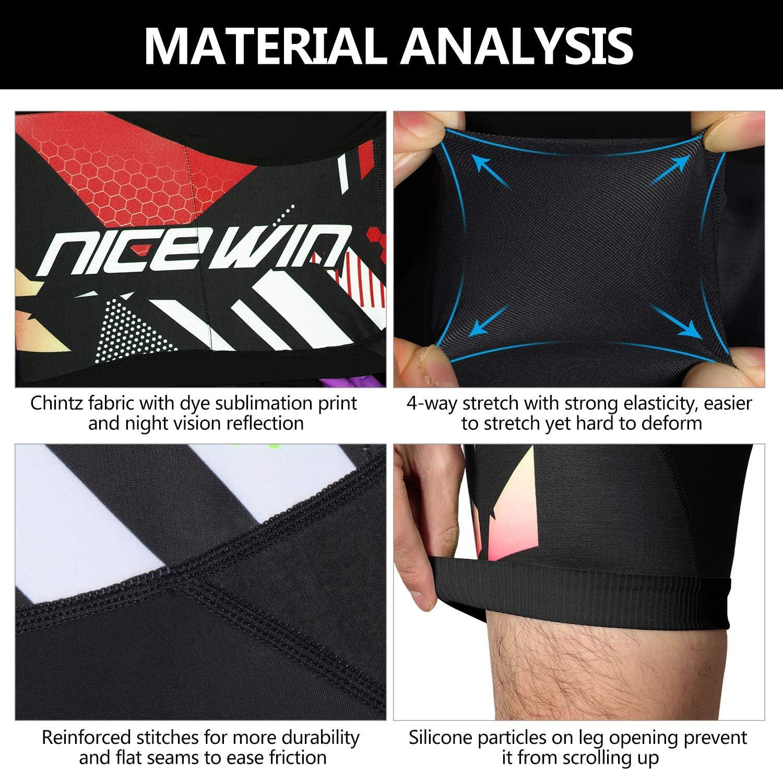 NICEWIN Men/'s Cycling Shorts Motorcycle Bike Riding Tights 3D Padded Quick-Dry Half Pants