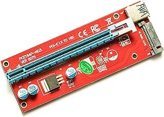 PCIE Riser - Adaptador USB 3.0 de 1 x a 16 x para minería de criptomonedas (versión 007S, Cable de 60 cm)