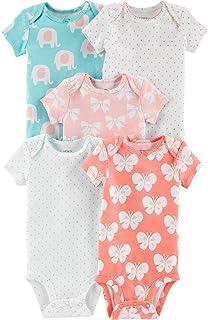 Carter's Baby Girls' 5 Pack Bodysuits (Baby), Kitty Love
