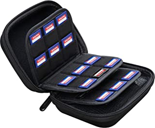 Large Capacity 33 Slots Storage Case Holder for SD Memory Cards, Switch Game Cartridges, PS Vita Game Plus 12 Micro SD Car...