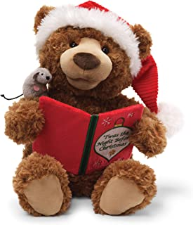 GUND Storytime Teddy Bear Animated Holiday Stuffed Animal Plush, 13
