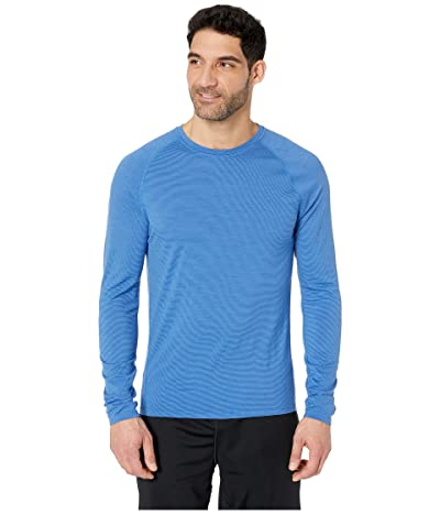 Smartwool Merino 150 Baselayer Pattern Long Sleeve (Bright Cobalt) Men