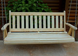Ecommersify Inc Mission Amish Heavy Duty 800 Lb 5ft. Porch Swing- Made in USA