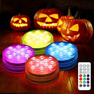 Litake Magnet Submersible LED Lights with Suction Cups, RF Remote (164ft), 13 LED Color Changing Waterproof Underwater Lig...