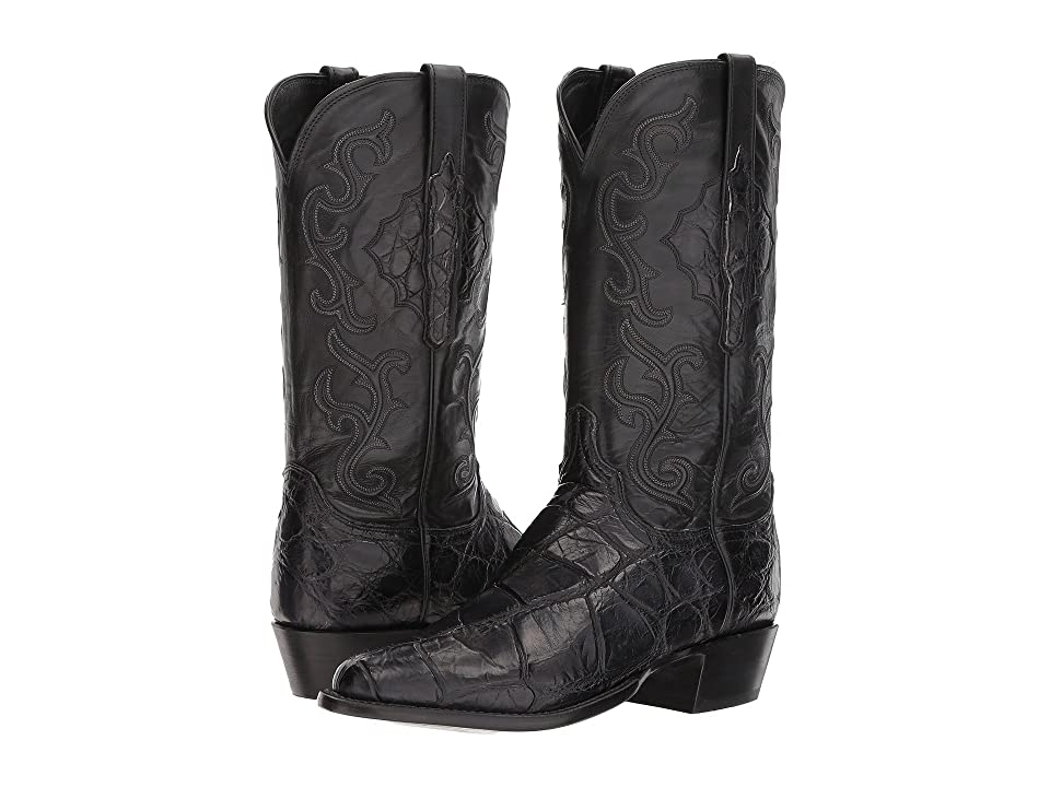 Lucchese Ace (Black) Cowboy Boots