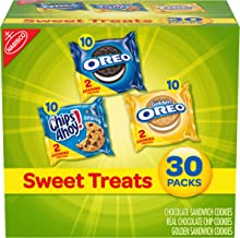Nabisco Cookies Sweet Treats Variety Pack Cookies - with Oreo, Chips Ahoy, Golden Oreo - 30 Snack Pack
