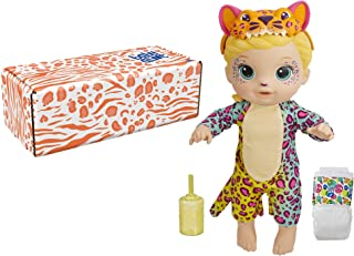 Baby Alive Rainbow Wildcats Doll, Leopard, Accessories, Drinks, Wets, Leopard Toy for Kids Ages 3 Years and Up, Blonde Hai...
