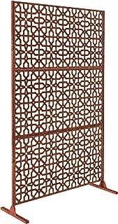 Veradek Parilla Decorative Screen Set w/Stand - Corten Steel