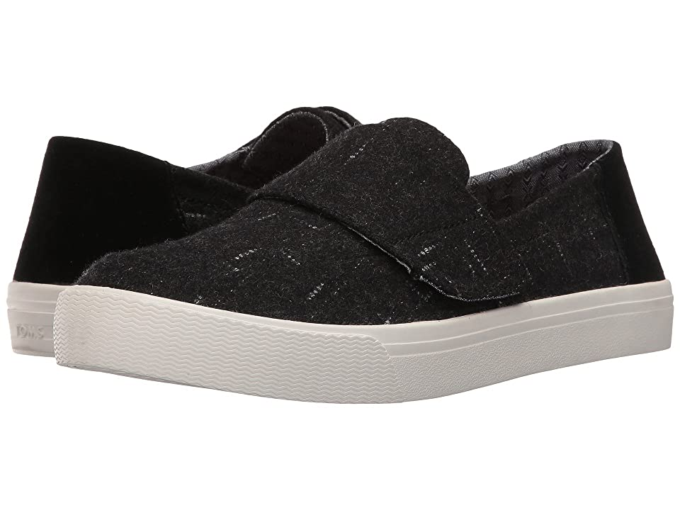 TOMS Altair Slip-On (Black Dotted Wool/Suede) Women