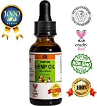 Hemp Oil for Dogs Cats and Pets, 1000 mg, 2nd Generation, Pet Releaf, Rescue Remedy, Indicated for Dog Anxiety Relief, Pain Relief and Inflammation, Nausea, Oil for Dogs