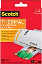 Scotch Thermal Laminating Pouches, 5 Mil Thick for Extra Protection, Professional Quality, 5 x 7-Inches, Photo Size, 100-P...