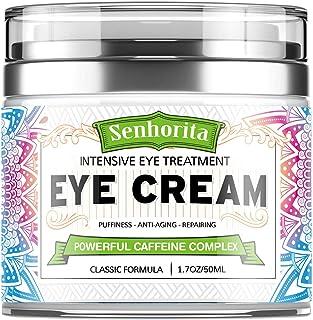 کرم دور چشم ، کرم زیر چشم برای حلقه های تیره و پف ، کرم کافئین ضد پیری چشم ، کاهش خطوط ظریف ، کیسه و چین و چروک چشم ، آبرسانی و لیفتینگ پوست شما 1.7oz