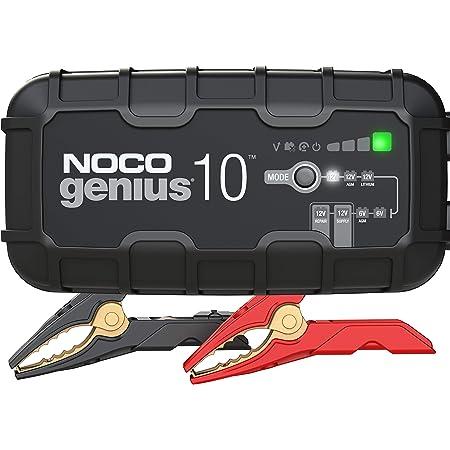 NOCO GENIUS10EU, Chargeur Intelligent Automatique de 10A, Chargeur de Batterie 6V et 12V, Mainteneur de Batterie, Chargeur de Maintien et Désulfateur de Batterie avec Compensation de Température