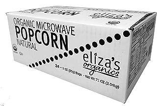 Eliza's Organics Microwave Popcorn, Natural, 72 Oz