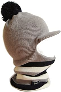 Frost Hats Winter Boy's Hat Balaclava Ski Mask Narrow Stripes Knit Frost Hats