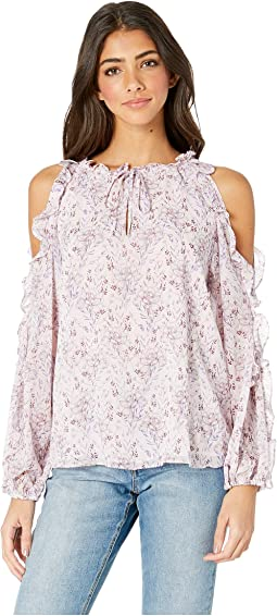 Long Sleeve Bloomsbury Floral Cold Shoulder Blouse