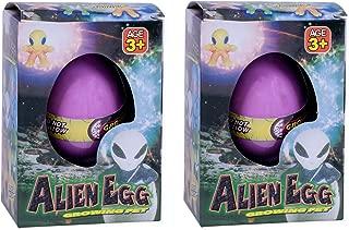 Set of 2 Surprise Growing Hatching Alien Egg Pet Kids Toys, Assorted Colors