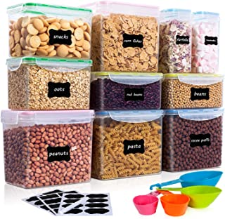 Vtopmart Airtight Food Storage Containers 10Pcs Set, Flour Containers, Great for Sugar..