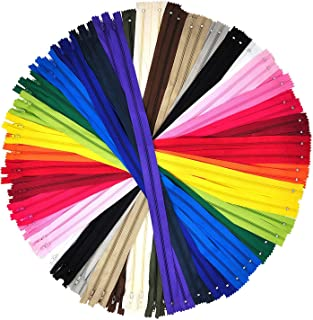 Mandala Crafts Colored Nylon Coil Zipper for Sewing, Handbag, Purse Making, Clothing, Wholesale Pack (12 Inches 80 Count, 20 Assorted Colors)