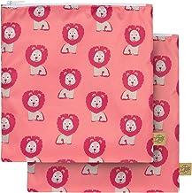 L/ÄSSIG Lot de 2 Pochettes r/éutilisables//Snack Bag Wildlife Lion
