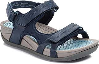 Womens Dinah Fabric Open Toe Casual Sport Sandals, Navy, Size 6.0