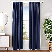 """AmazonBasics Blackout Curtain Set - 42"""" x 96"""", Navy"""
