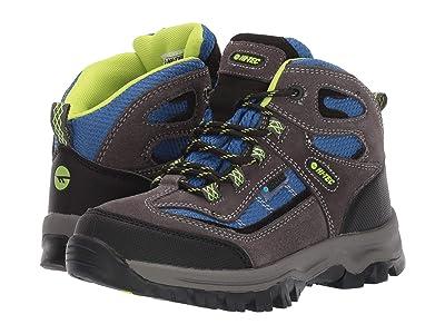 Hi-Tec Kids Hillside Mid Wp (Toddler/Little Kid/Big Kid) (Charcoal/Cobalt/Limonchello) Boys Shoes