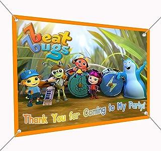 Beat Bugs Large Vinyl Indoor or Outdoor Banner Sign Poster Backdrop Decoration, Waterproof, 30