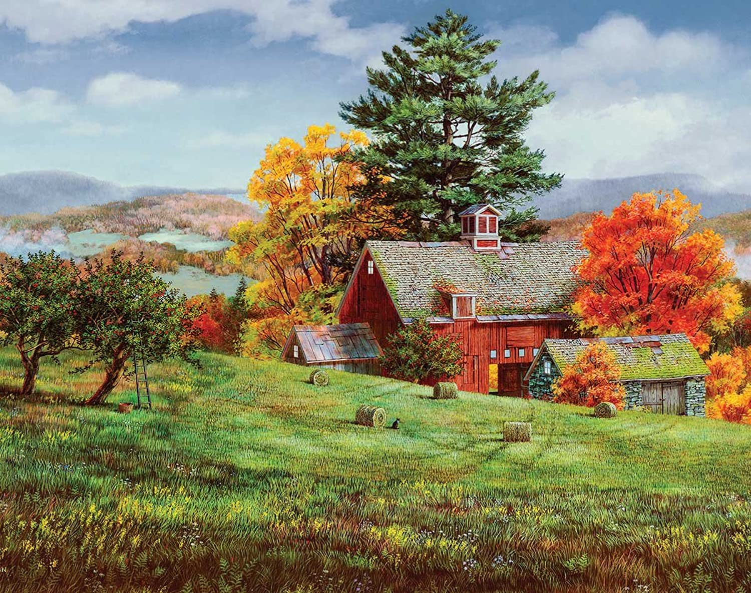 White Mountain Puzzles Pie Apples  1000 Piece Jigsaw Puzzle