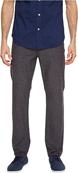 Perry Ellis - Slim Fit Solid Linen Pants