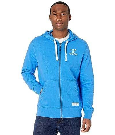 Life is Good Simply True Zip Hoodie (Royal Blue) Men