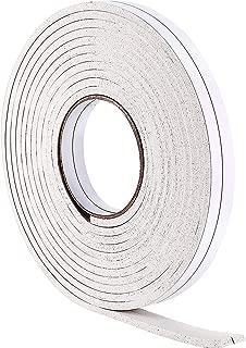 Hestya 10 m Foam Draught Excluder Weather Strip Tape Weatherstrip Weather Seals for Window Door Sealing (5 mm, White)