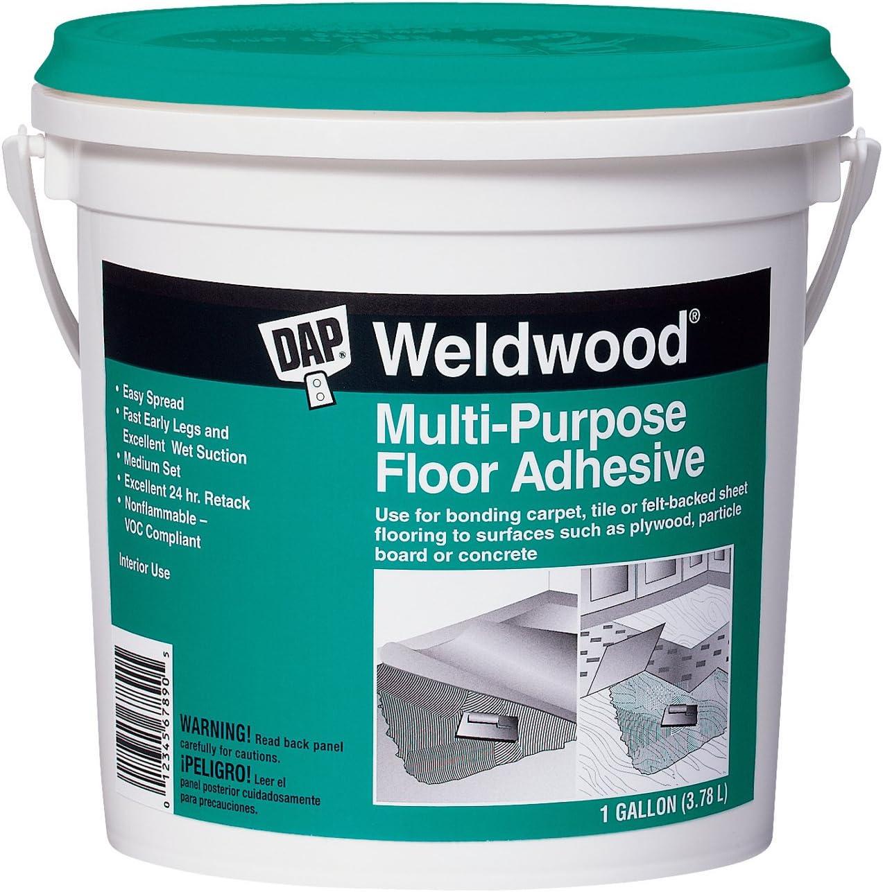 Dap 00141 Multi-Purpose Floor Adhesive, 1-Quart - Industrial Adhesives -