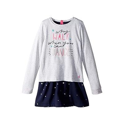 Joules Kids Layered Sweater Dress (Toddler/Little Kids/Big Kids) (French Navy Falling Star) Girl